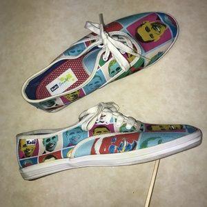 Keds Studio Obama printed canvas shoes